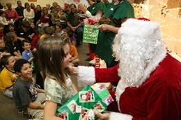 3 Ivy And Santa At Gulfside Regional Hospice Holiday Party