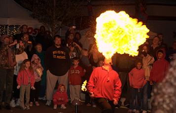A Fire Eater at Miracle on Cleveland Street - Photo by Chris Connell