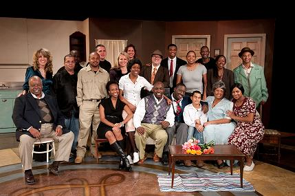 The cast of A Raisin in the Sun with Harlem Nights Producer Maurice Mickens, Director Rory Lawrence, Pat Harney, Public Affairs Director for the Church of Scientology, and members of the North Greenwood Community Coalition – Photo by Chris Connell