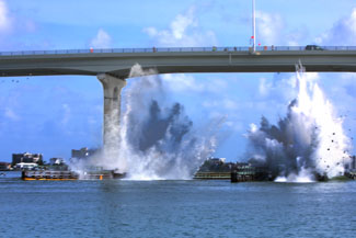 Demolition of a Section of the Old Belleair Bridge Took Place on July 15th - Photo by Wayne Cathel