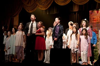 The Cast of Annie Jr - Photo by Chris Connell