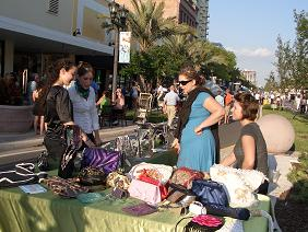 Dawn Shannon of Intuition Spa Sells Her Bags at 4th Friday
