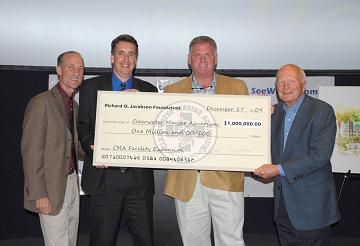 The Clearwater Marine Aquarium Received a Donation of 1 Million Dollars from the Richard O. Jacobson Foundation