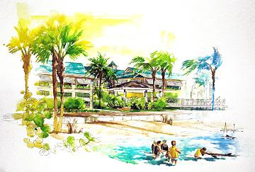 An artist's rendering of the Clearwater Marine Aquarium's new building