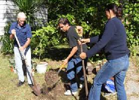 Create Clearwater Members Gardening. Photo by Joyce White.