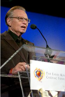 Larry King Talk Show Host and Founder of The Larry King Cardiac Foundation
