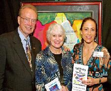 Honorary Chairpersons 2008 Fred and Aleta Fisher with Fine Artist Sophie Matisse