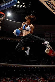 Orlando Magic Dunking Dancer Megan Photo by Fernando Medina Orlando Magic