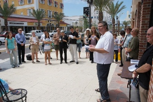 Poetry Walk Downtown Clearwater.