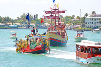 Pirate Ships Sail the Waterways of John's Pass