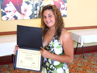 Brittany Jahn received the Beth Dillinger Scholarship - Photo by Heidi Lux