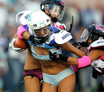 Two Lingerie Football League Teams Competing in Friday Night Football