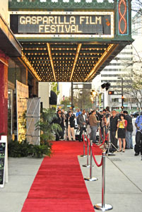 The red carpet at the historic Tampa Theatre. Photo by Simaen Skolfield.