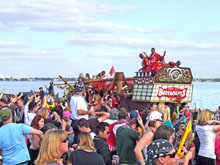 Tampa Bay Buccaneers on their float Photo by Ian Phoenix.