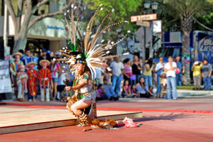 Onlookers were awed by a gorgeous ceremonial dance. - Photo by Randall Gillion