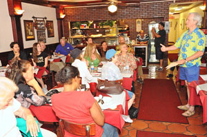 A poetry reading at Tony's Pizzeria by Ron Kule - Photo by David Ziff