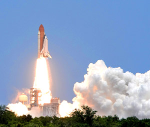 Space Shuttle Lift-Off from Kennedy Space Center - Photo by Wayne Cathel