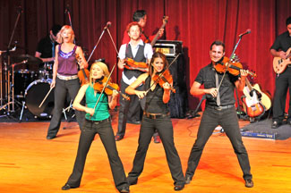 Fiddle group Barrage premiered their world tour