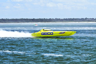 The Miss Geico racing boat – Photo by Chris Connell