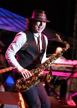 Boney James was the headliner for Saturday night of the Clearwater Jazz Holiday - photo by Brad Kugler