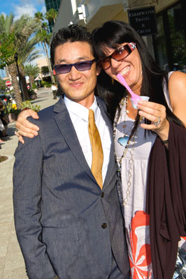 Phillip Park, owner of Caliyogurt, with Joy Gendusa