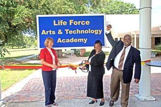 Life Force Arts & Technology Academy Ribbon Cutting - Photo by David Ziff
