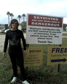 Thrill Seeker Sirio Balmelli at Skydive City in Zephyrhills