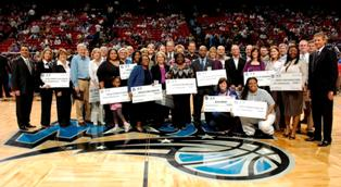 Orlando Magic Youth Fund Check Presentation Group Shot