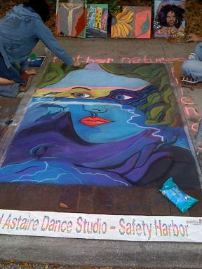 Safety Harbor Chalk Fest - Photo by Robert Spear