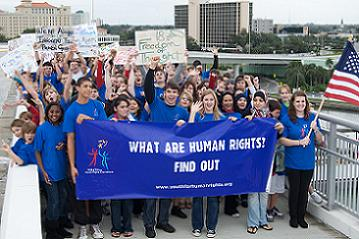 Youth for Human Rights International Marched Across the Memorial Causeway to Celebrate Human Rights Day - Photo by David Ziff