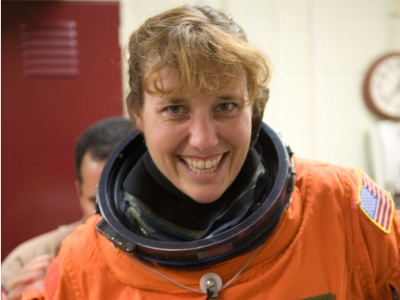NASA Space Shuttle Discovery Launch Takes Teacher Dottie Metcalf-Lindenburger to Space Station